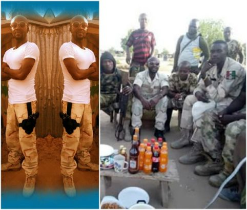 A NIGERIA SOLDER SHARE PHOTO OF HIM CELEBRATING HIS 4TH BIRTH DAY AT THE WAR FRONT